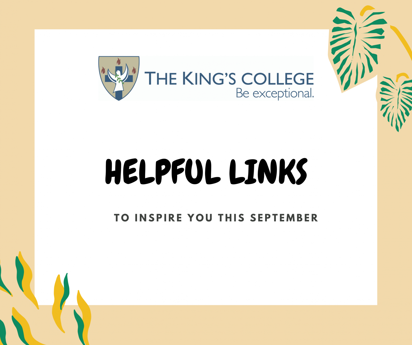 Helpful links September