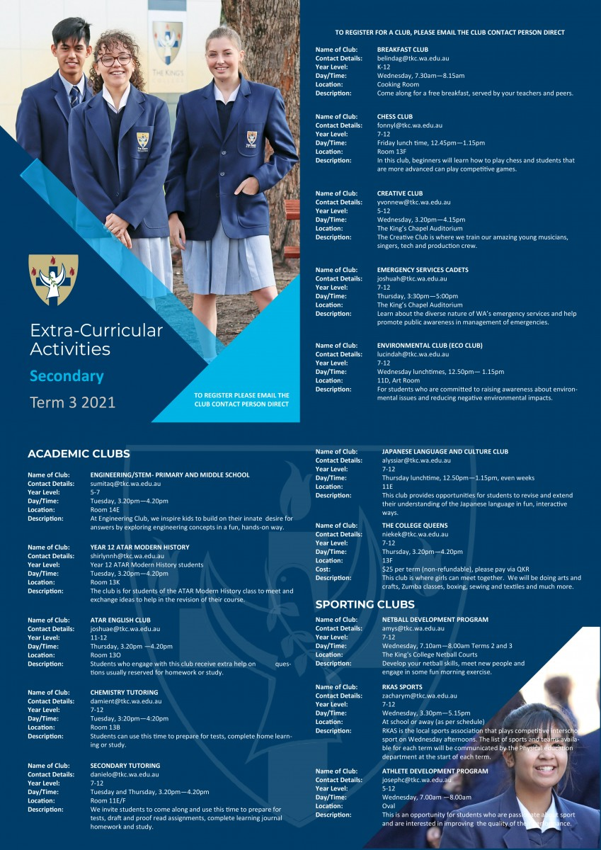 Term 3 Clubs Booklet (Secondary) version 2